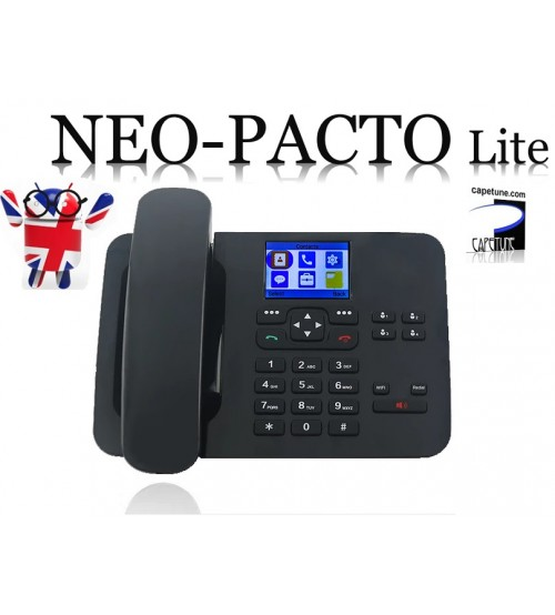 Capetune NEO-PACTO Lite 4G LTE GSM WiFi HotSpot Bluetooth Android Desk phone