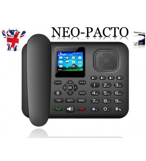 Capetune NEO-PACTO 4G LTE GSM WiFi HotSpot Bluetooth Android Dual SIM Desk phone