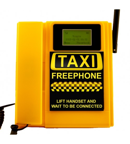 TELECOM500 GSM Wireless Taxi FreePhone HotDial AutoDial Wall Mount. YELLOW