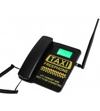 TELECOM500 GSM Desk phone HotDial AutoDial Taxi FreePhone. Black colour